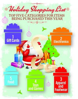 Top Five Holiday Shopping Items 2015